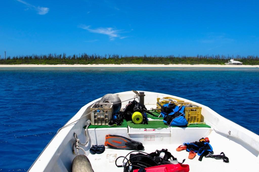 水納島・瀬底島・伊江島への日帰りダイビング